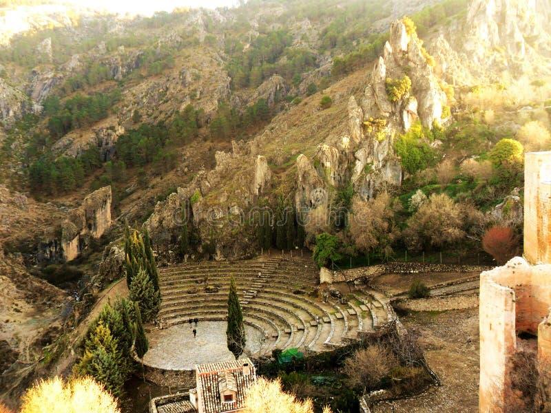 La Iruela-Sierra de Cazorla-Jaen-castle ruins. Ruins and details of the castle and amphitheater of La Iruela-Sierra de Cazorla-Jaen -Andalusia stock photography