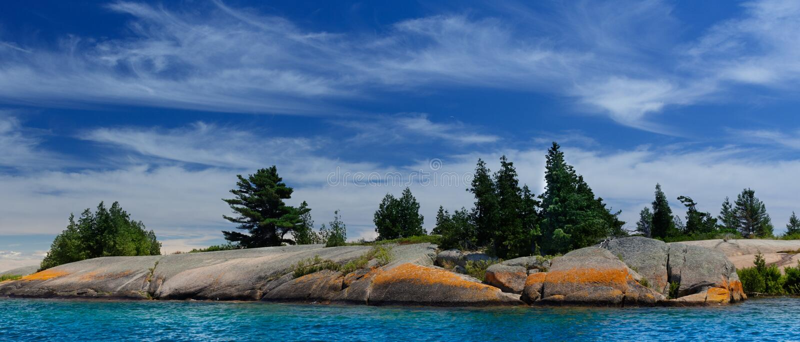 La isla imagen de archivo