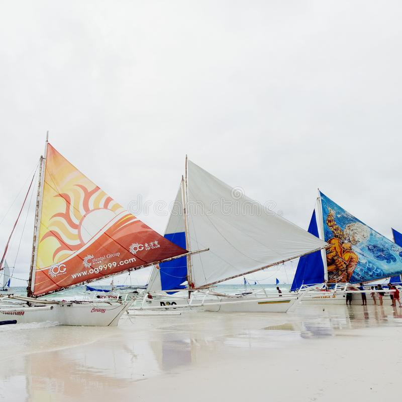 La isla de Boracay en aklan fotos de archivo libres de regalías