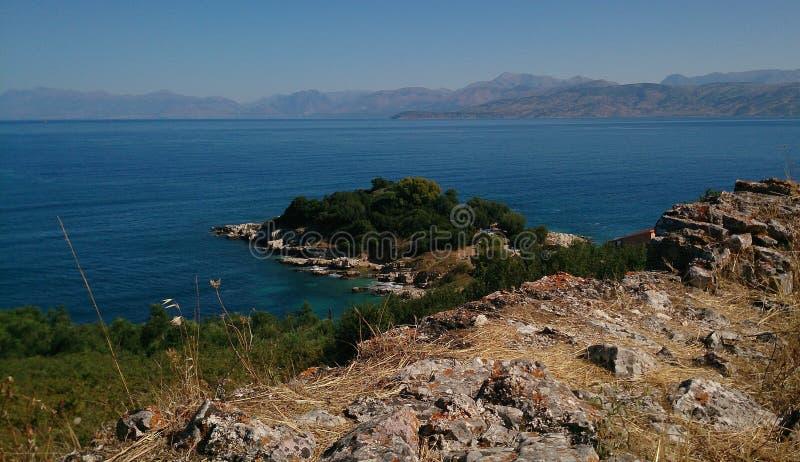 La isla de Corfú imagenes de archivo