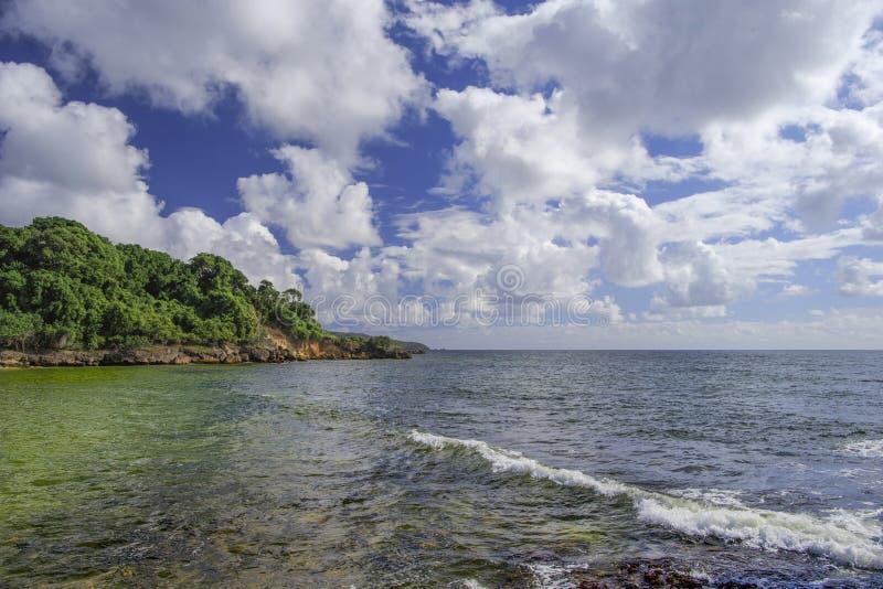 La isla de La Española, República Dominicana Visión desde el isla fotografía de archivo