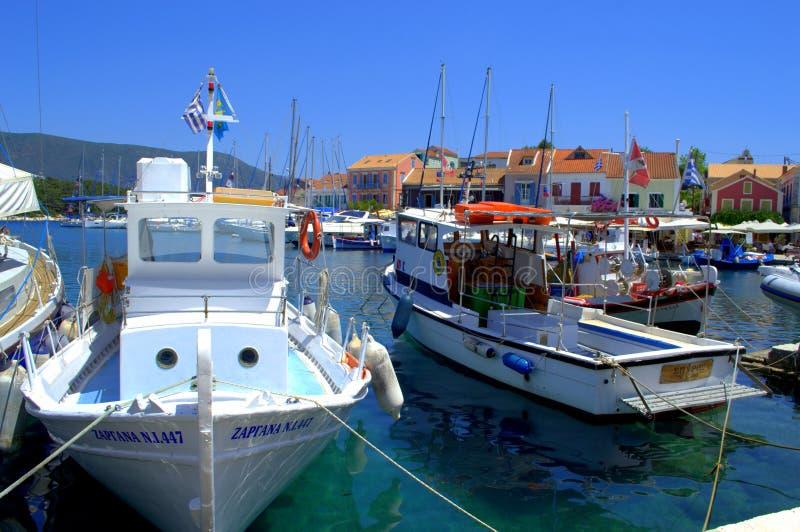 La isla de Kefalonia navega el puerto, Grecia imágenes de archivo libres de regalías