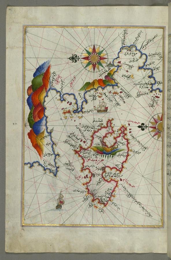 La Isla De Midilli ( ¼ De MidillÃ, Mitylene, Lesvos) En El Mar Egeo Del Noreste, Del Libro En La Navegación, Walters Art Dominio Público Y Gratuito Cc0 Imagen