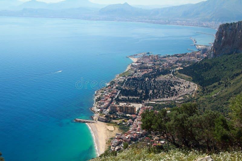 La isla de Sicilia, Palermo foto de archivo