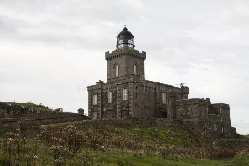 La isla escocesa del faro puede fotografía de archivo libre de regalías