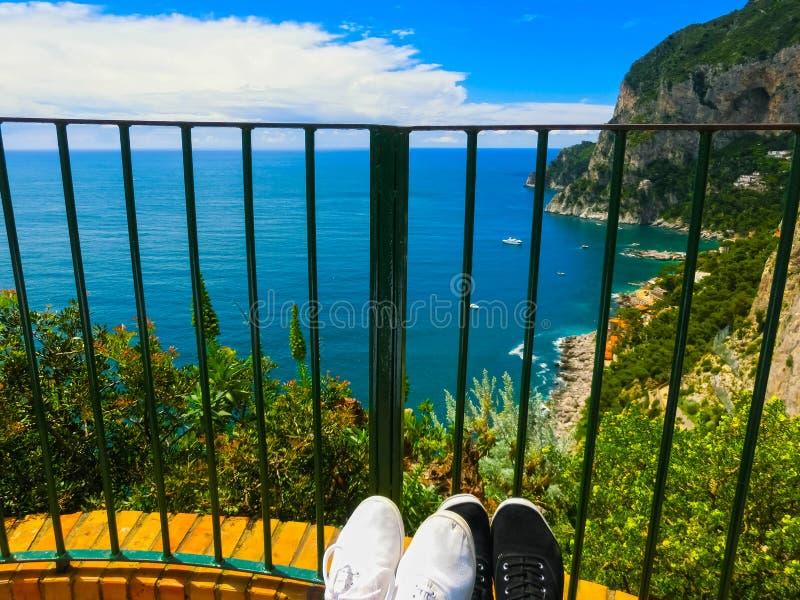 La isla hermosa de Capri fotos de archivo