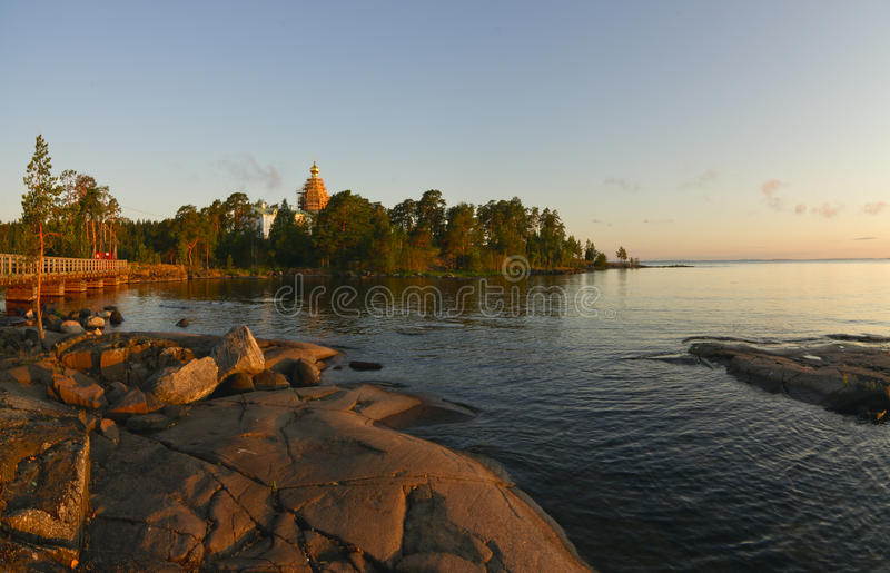 La isla Valaam imagen de archivo