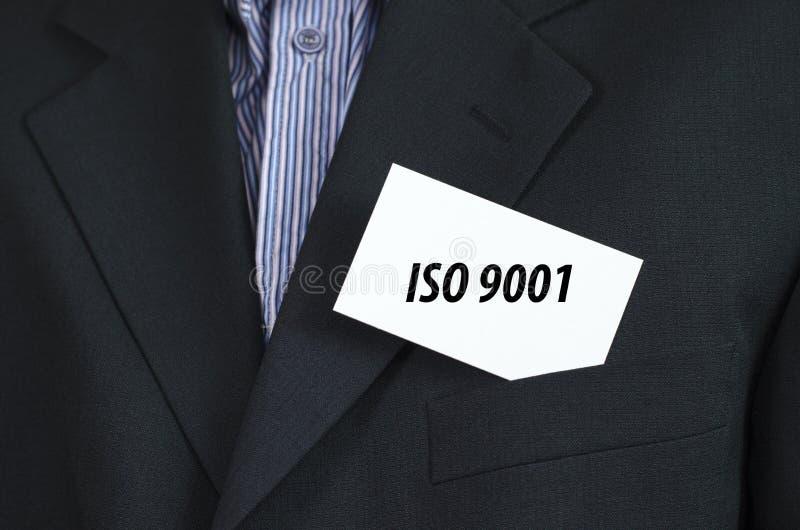 La ISO 9001 manda un SMS a concepto fotografía de archivo libre de regalías