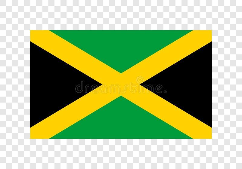 La Jamaïque - drapeau national illustration de vecteur