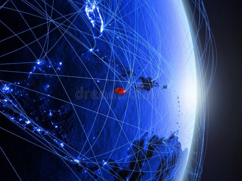 La Jamaïque sur la terre numérique bleue bleue images stock