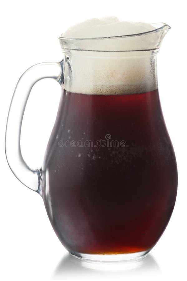 La jarra de la cerveza de raíz aisló, las trayectorias fotografía de archivo libre de regalías