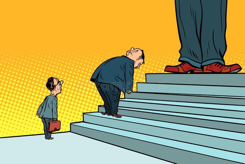 La jerarquía, la duplicidad de los jefes y la hipocresía oficiales libre illustration