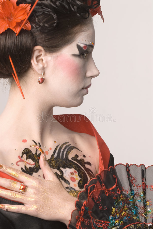 La jeune femme japonaise photographie stock