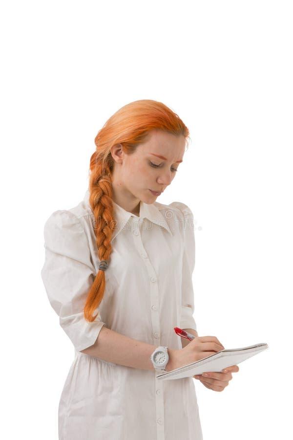 femme rousse attirante avec une longue tresse image stock image 30067845. Black Bedroom Furniture Sets. Home Design Ideas
