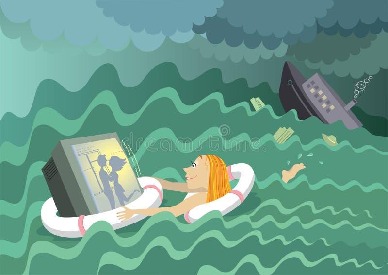 Passion de TV illustration de vecteur