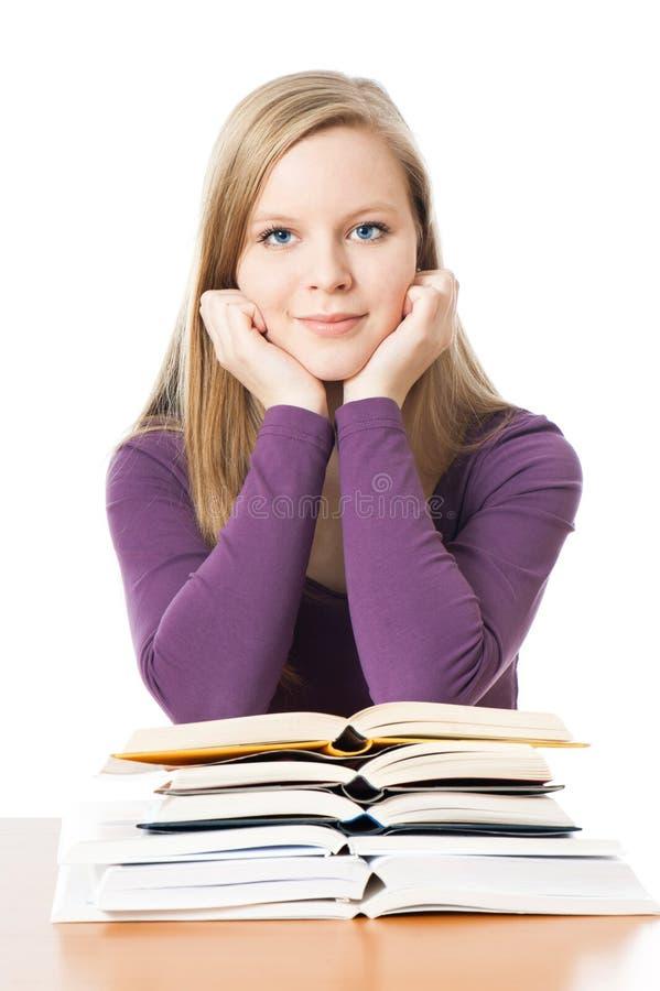 La jeune fille apprend images stock