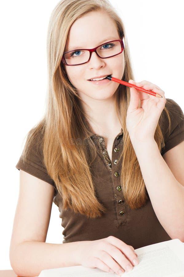 La jeune fille apprend images libres de droits