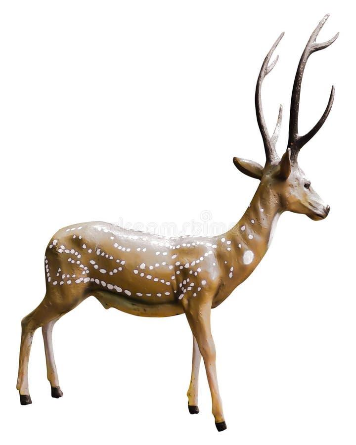 La jolie statue de cerf brun images stock