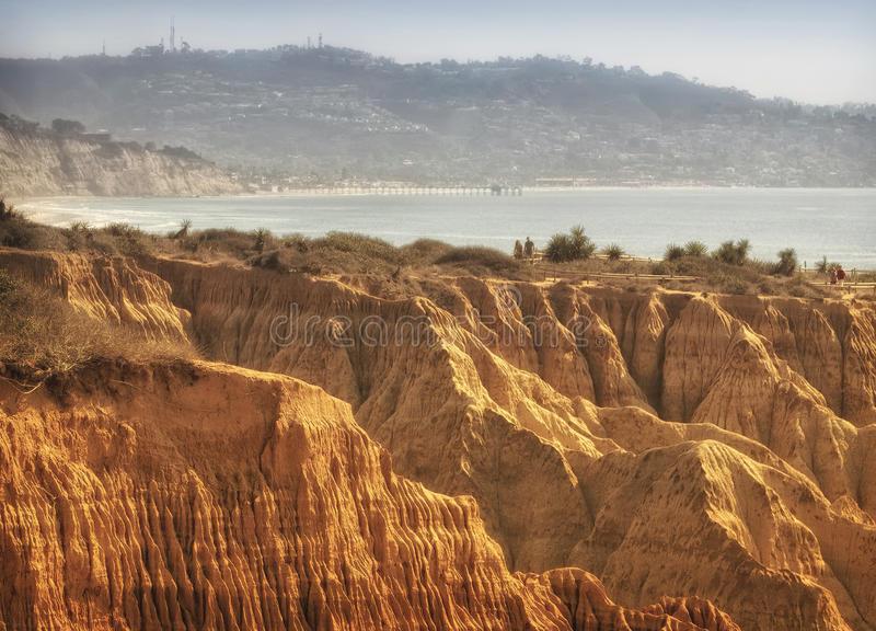 La Jolla Cliffs and Ocean, Southern California stock images