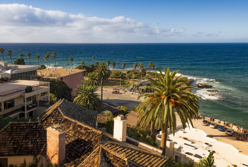 La Jolla Cove. High angle view on La Jolla Cove, a part of city of San Diego, California, on a sunny day stock photography