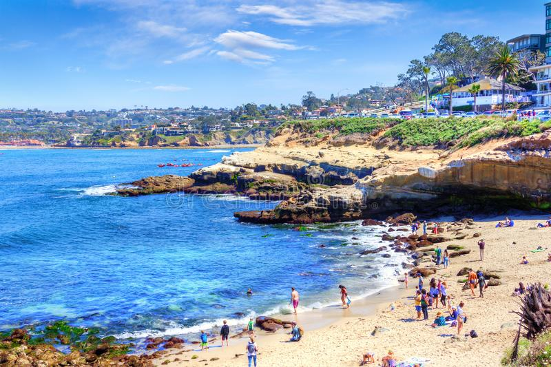 La Jolla Cove in San Diego, Southern California royalty free stock photos
