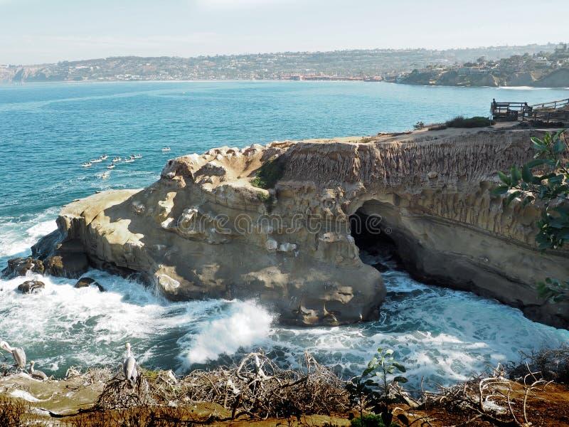La Jolla grotta royaltyfria bilder