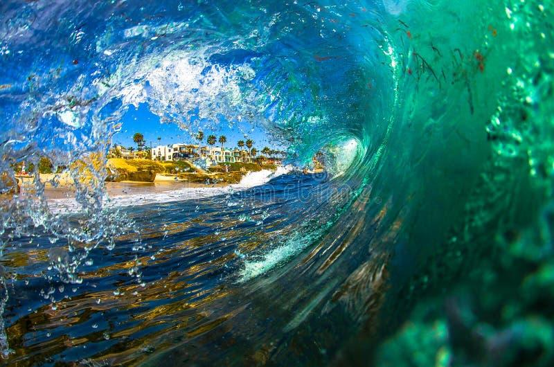 La Jolla Shorebreak fotografie stock