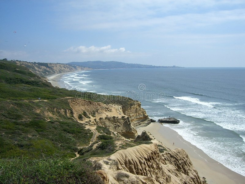 La Jolla Shores royalty free stock photography