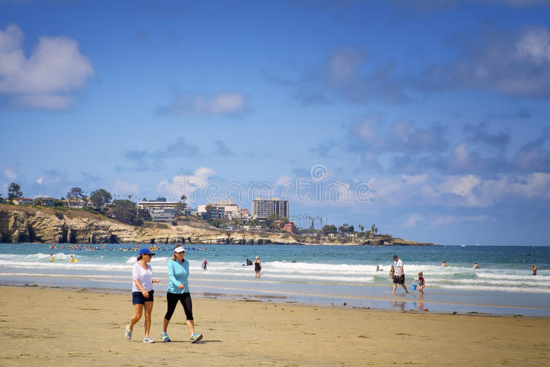 La Jolla Shores Beach, California stock image