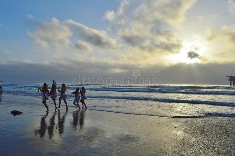 La Jolla strand arkivbild