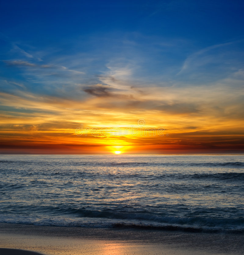 La Jolla Sunset royalty free stock photography