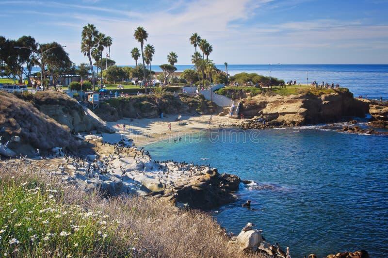 La- Jollabucht, Kalifornien stockbilder