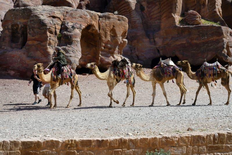 La Jordanie, Moyen-Orient, PETRA antique photo stock