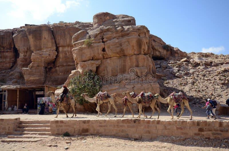 La Jordanie, Moyen-Orient, PETRA antique photographie stock libre de droits