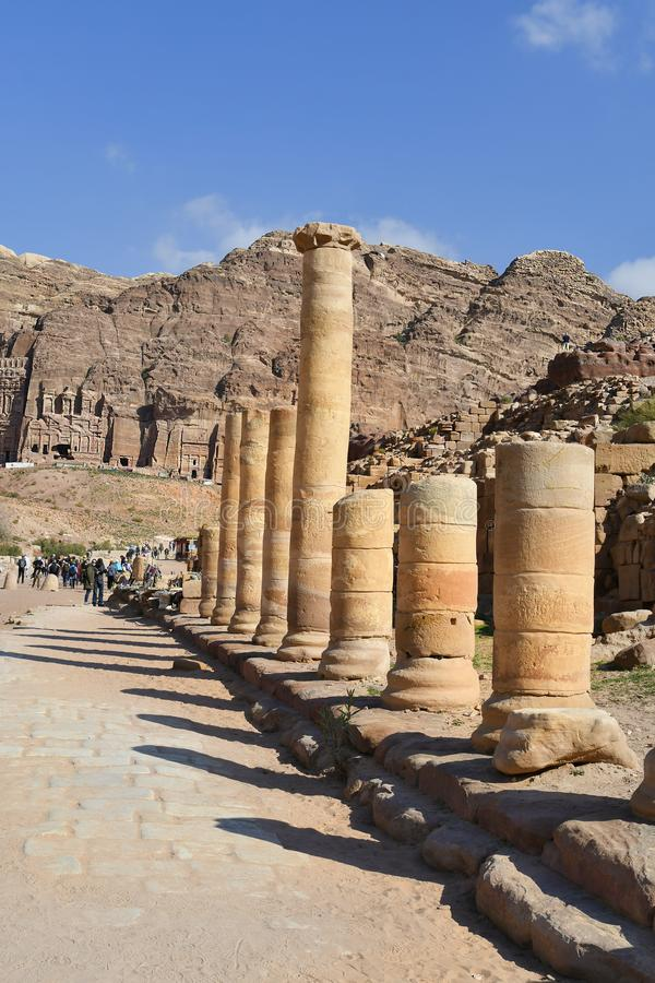 La Jordanie, Moyen-Orient, PETRA antique images libres de droits