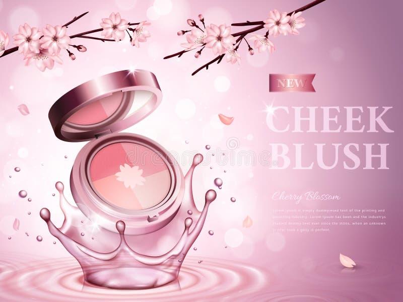 La joue de fleurs de cerisier rougissent illustration stock