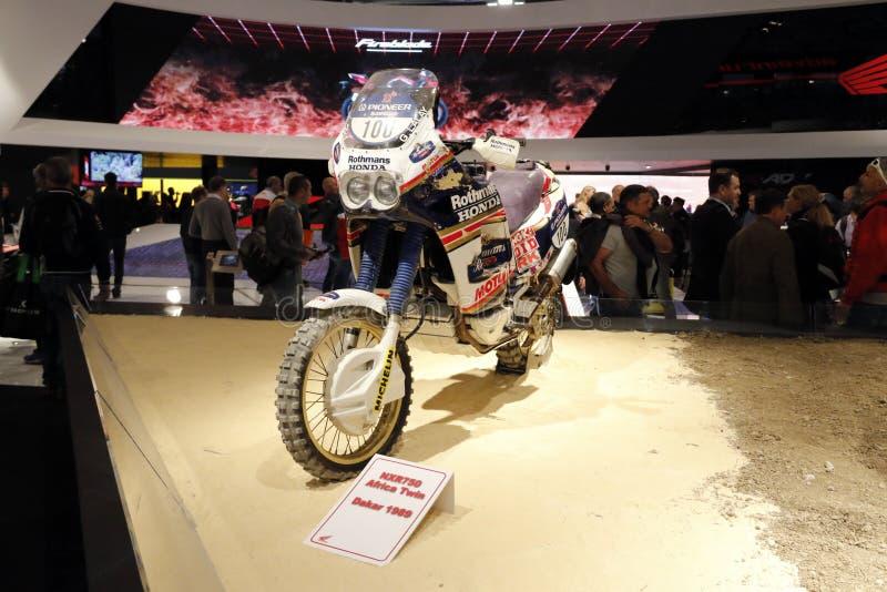 La jumelle 1999 de Honda Afrique de gagnant de Paris Dakar images stock