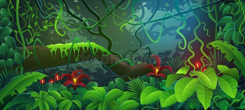 La jungle illustration stock