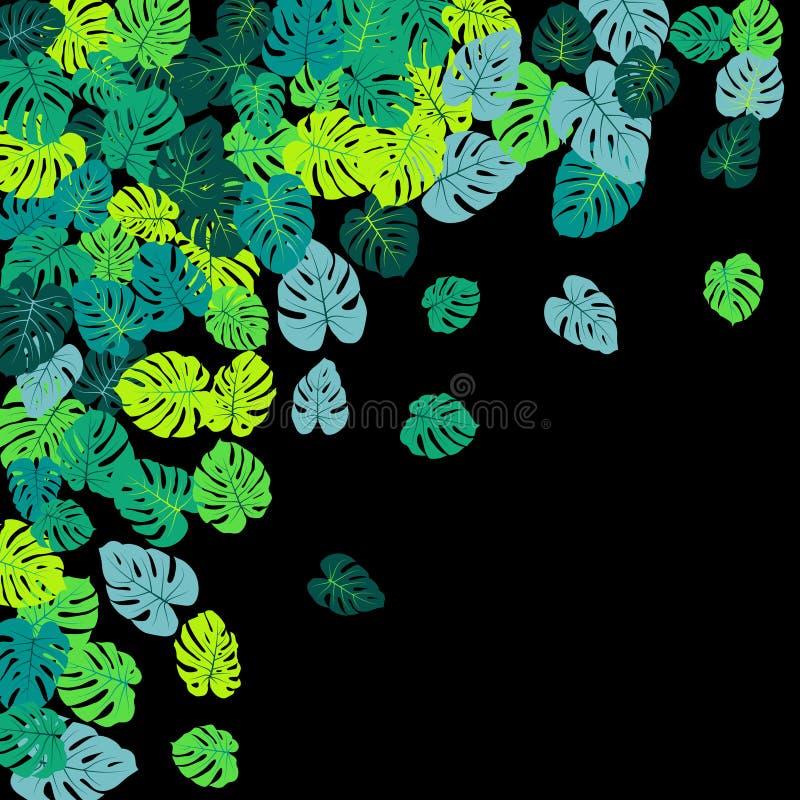 La jungle tropicale verte de Teal part de la dispersion de vecteur illustration stock