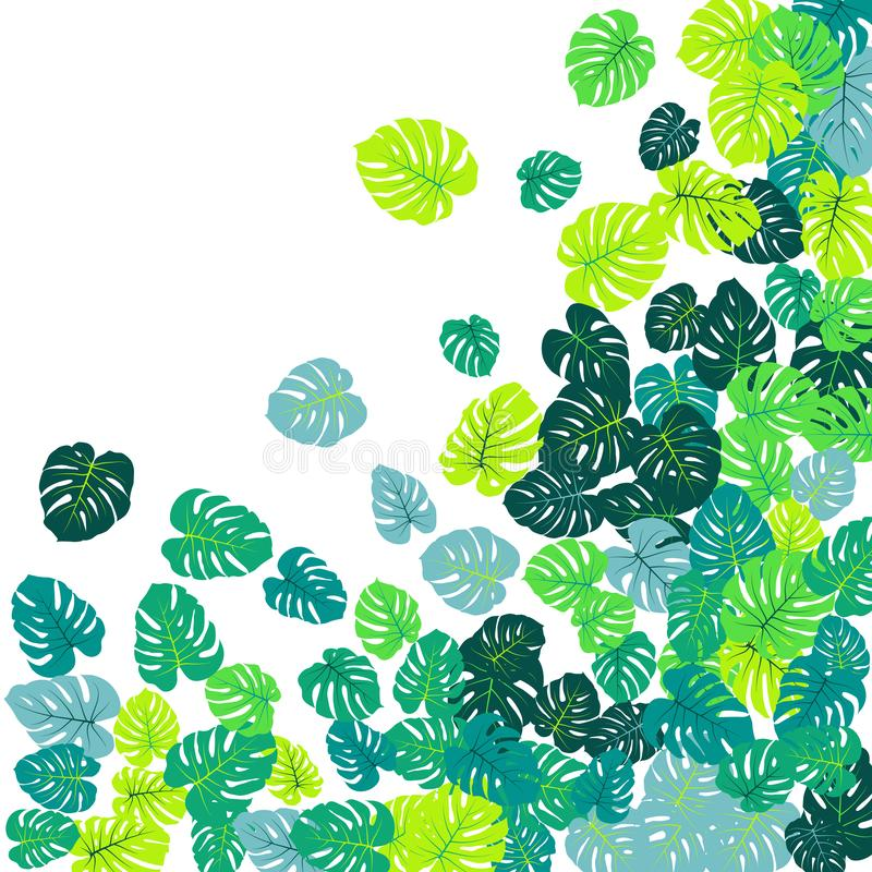La jungle tropicale verte part de la dispersion de vecteur illustration libre de droits