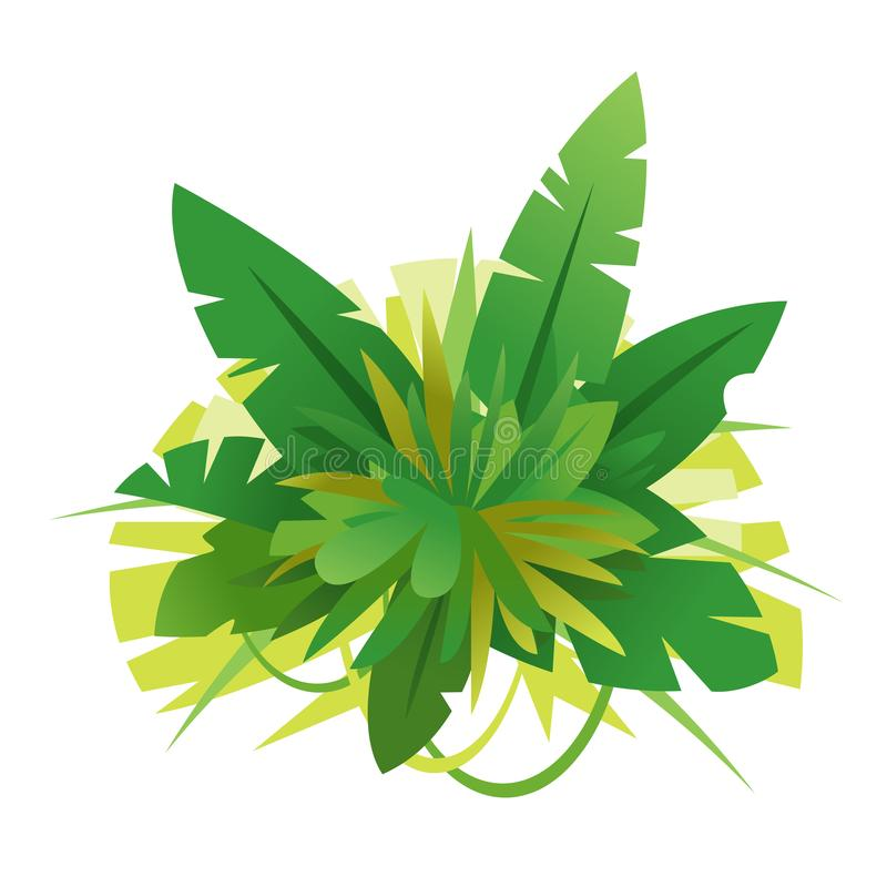 La jungle verte part de l'illustration de composition illustration stock