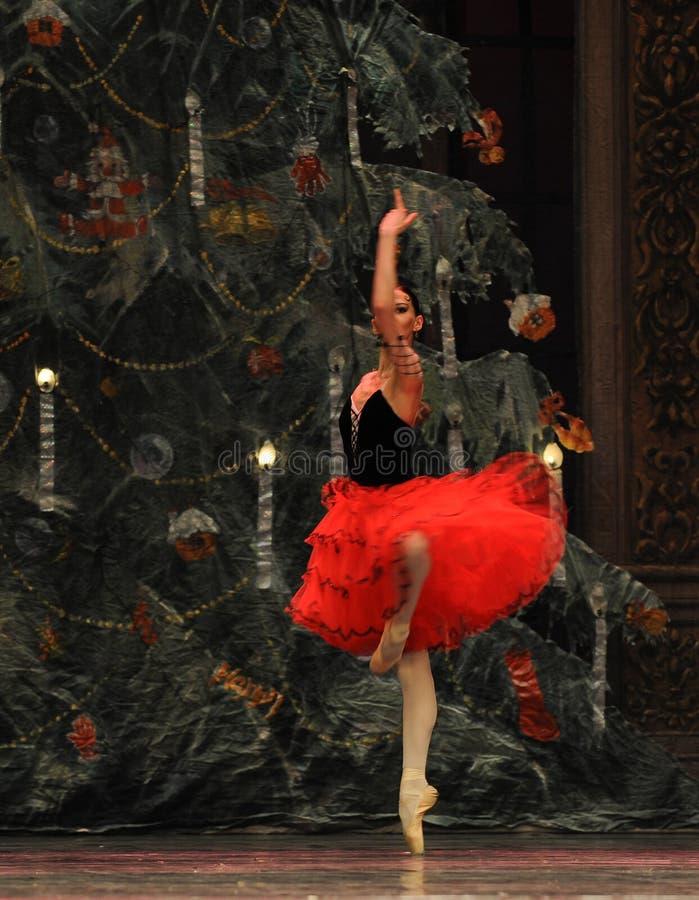 La jupe rouge de danse photographie stock libre de droits