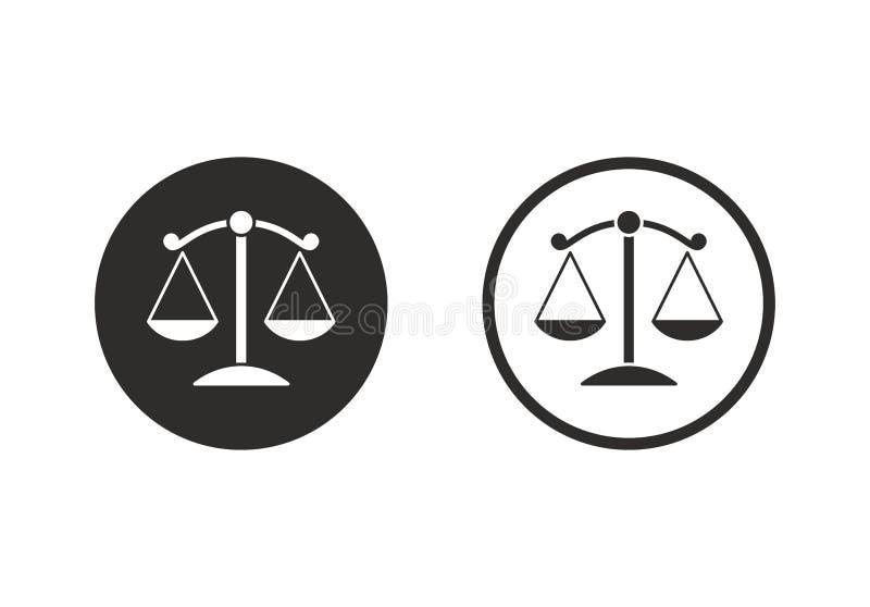 La justice mesure l'icône illustration stock
