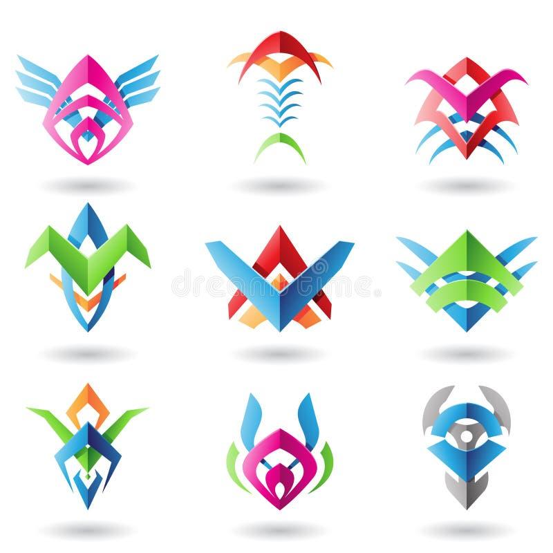 La lámina tiene gusto de iconos abstractos stock de ilustración
