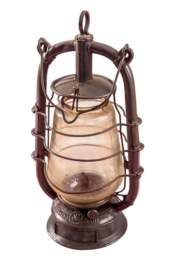 La lámpara de la parafina aislada en blanco fotos de archivo