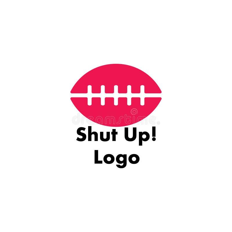 La lèvre a fermé le vecteur de logo de symbole illustration de vecteur