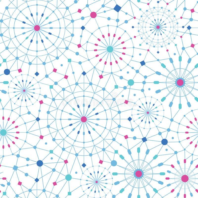La línea arte abstracta azul circunda el modelo inconsútil ilustración del vector