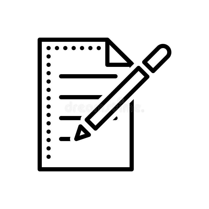 La línea negra icono para Create, construye y fabricación libre illustration