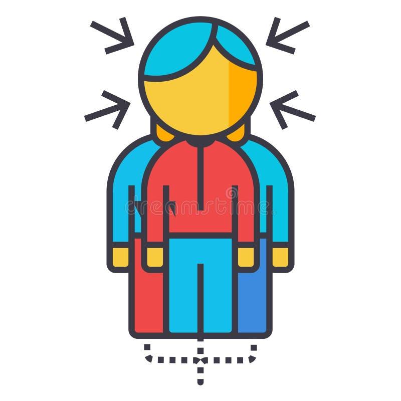 La línea plana ejemplo, vector de Sinergy del concepto aisló el icono libre illustration
