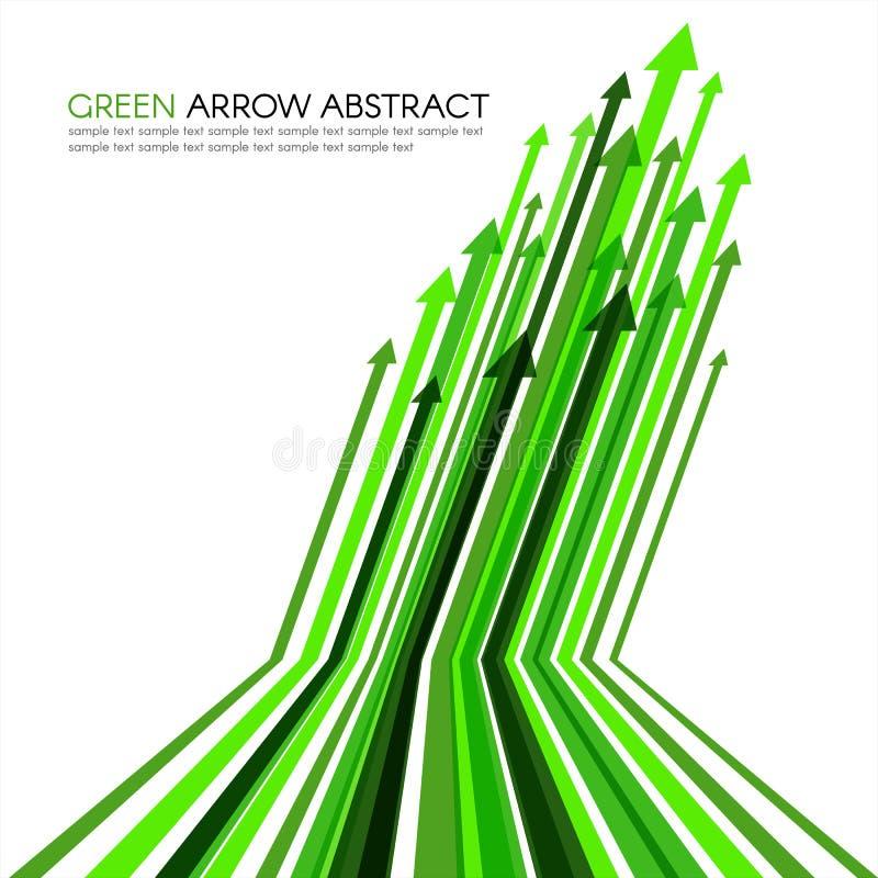 La línea verde de la flecha rayó el fondo agudo del extracto del vector ilustración del vector